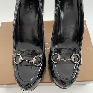 Gucci Horsebit Accent patent leather pumps